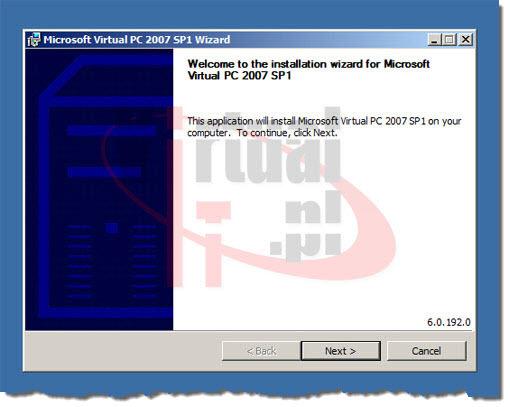 Virtual PC 2007 instalacja