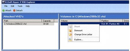 R1Soft Hyper-V VHD Explorer