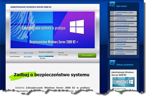 Windows Server szkolenie kurs bezpieczeństwo wideo