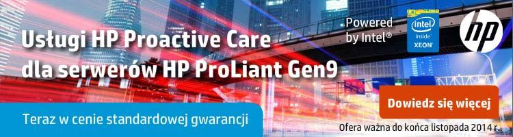 Usługi HP Proactive Care dla serwerów Proliant Gen9