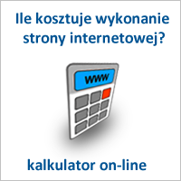 Projektowanie stron internetowych, kalkulator www online